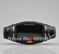 "Cheap Portable Dvr 2.7"" TFT LCD Car Dvr Dual Lens Infrared Night Vision GPS Logger and G-Sensor Free shipping"
