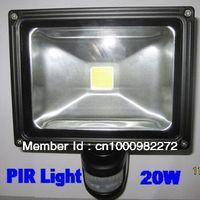 PIR 20W Sensor LED Flood light Outdoor Black Floodlight Epistar  Single COB 85V-265V Free Shipping