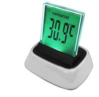 Fashion high-tech LED display digital table desk clock multi-color wall alarm clock