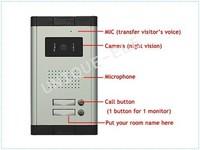 """7""""LCD Apartment Wired Photo-Taking Video Doorbell Doorphone Intercom 1IR camera 2 monitor Take Photo"""