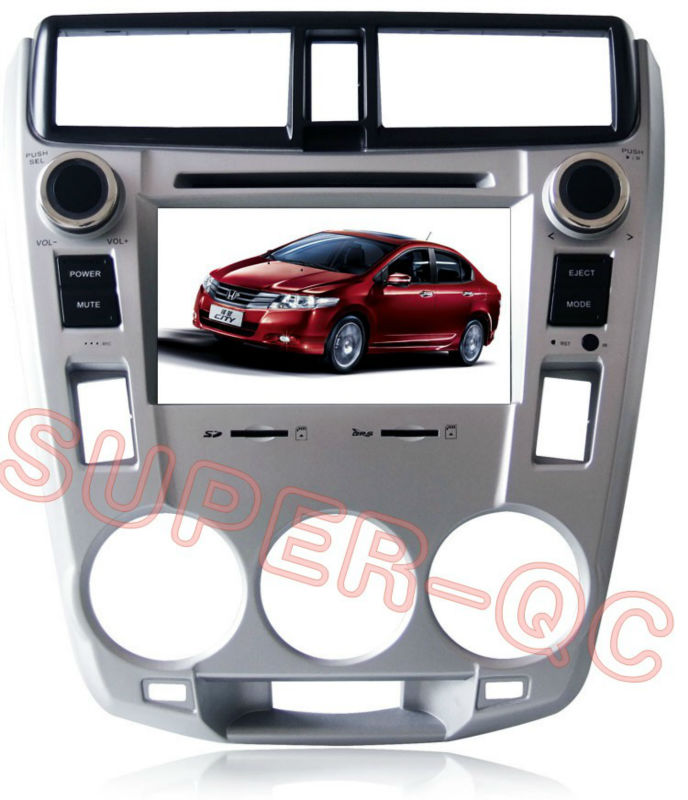 Car DVD for Honda CITY 1.5 with smart menu 4GB Card with Map(China (Mainland))