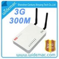 ralink 3052 300M 3G/WAN Wireless N WiFi USB AP Router with SMA 2x2dBi Antennas (2T2R) EU/American Free shipping