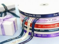 15mm Personalised Printed Ribbon Wedding Decoration Favor Ribbon Custom Ribbon