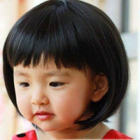 Korean style Lovely Baby Girl Wigs kids child Girl's Short Straight BOBO Wigs Christmas gift hairpiece