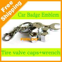 50Set Promotion Mix Order Car tyre valve cap cover 4pcs+wrench key chain