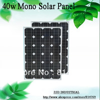 A class quality photovoltaic solar cell panel 40w solarpanel kits with high efficiency monocrystalline cells