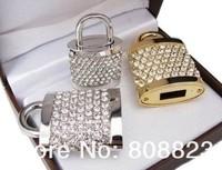 Wholesale HOT Jewelry & Crystal Lock USB Flash Drive Pen Memory 1GB 2GB 4GB 8GB 16GB