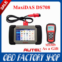 DHL Free 100% Original MaxiDAS DS708 full set+free update+lifetime tech-support+3 year warranty Autel DS 708 Highest quality