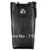 Walkie talkie case for portable radio Leather Carrying Case with Belt Clip & Strap for Motorola GP328/GP340/HT750 walkie talkie
