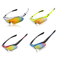 WOLFBIKE Bicycle Glasses Cycling Goggles Glasses UV400 Black Cycling Bike Outdoor Sports Goggles Sun Glasses 5 Lens Polarized
