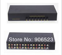 S82VA Video Audio RCA AV Switch 8 ways Selector Splitter 2 output manual switch