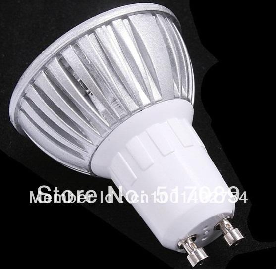 Free Shipping /50pcs/lot High power led spotlight bulb GU10 3W dimmable Warm white/white AC85-265V(China (Mainland))