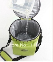 2013 Waterproof Bucket Insulated lunch Bag with Ice pack Cooler Bag Breast Milk Storage Bag green w/shoulder straps