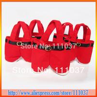 NEW Santa pants style Christmas candy gift bag 200pcs/lot Free Shipping