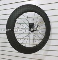 FULLFUN 88mm 20.5mm Tubular Carbon Wheelset 700c 18K Matte Powerway R13 Hubs Road Bike Full Carbon Rear Wheel Aero Spokes CN494