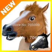 Creepy Horse Mask Head Halloween Costume Theater Prop Novelty Latex Rubber(China (Mainland))