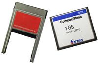 STEC 1GB CompactFlash CF Memory Card 1G +  PCMCIA adapter