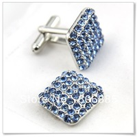 Guarantee 100% Genuine alloy novelty stone cufflinks,Electroplated color,Designer shaped cufflinks+Free custom styles