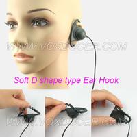 Soft Rubber Ear Hook Listen Only Earpiece/Headset for 3.5mm jack Radio Mic