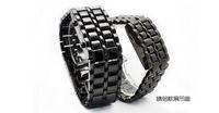 fashionable man LED watch flashing watch led lava iron samurai