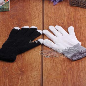 1pair 7 Mode LED Gloves Rave Light Finger Lighting Flashing Glow Mittens Wholesale