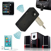 Free shipping Car Bluetooth Audio Music Receiver Adapter with MIC function