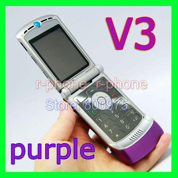 Original Motorola Razr V3 Mobile Phone Unlocked Russian Keyboard(China (Mainland))