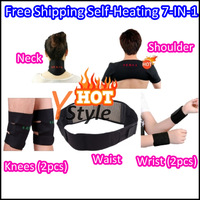Self-heating Sauna Belt for Massage with Far-infared and Magnetic Therapy Function 7-IN-1 Set Free Shipping for Neck Shoulder