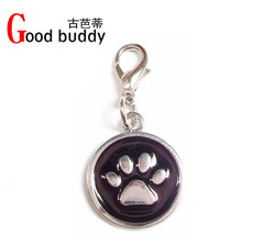 Hot item! Free shipping(100pcs mix colors) fashion cat pendant,dog ID tags,pet charms,christmas gift 5colors for choice(China (Mainland))