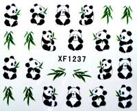 6 Designs kawaii Panda Cat Rabbit Water Slide Decals Cartoon Nail Stickers Free Shipping