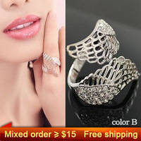 Mixed order more than $15 Get Free Shipping ~~~ 0876-2 fashion classic wings silver gold color cute women gift gothic women