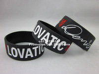 Lovatic Demi Lovato Signature Wristband,promotion gift,filled in color,customize band,silicone bracelet,50pcs/lot,free shipping