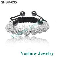 Wholesale Shamballa Jewelry Bracelets 11 Beads New Tresor Paris Shamballa Bracelets Micro Pave CZ Disco Ball Bead  SHB007