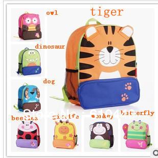 Lowest Price! 5pcs/lot children backpack kid's satchel Kindergarten animal bags school backpacks