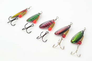 LKLP -  hot sale Fishing Lures Fishing spinner Tackle paillette spoon Lures Mix Color Free shipping 5pcs fre