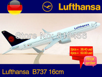 Free Shipping!! Germany Lufthansa  B737 16CM 1:400 rc plane model,avaition model, aircraft model
