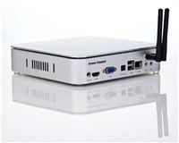 Cheap thin client Qotom-T250i with vga/dvi/2 sata ports/. Atom D2500 CPU dual core/2G DDR3 RAM TINY PC with free shipping