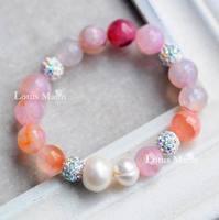 Lotus mann Agate Wrap Bracelet