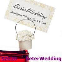 50pcs Rose Basket Placecard Holder SZ020 Wedding Souvenir, Wedding Favor@https://twitter.com/BeterWedding