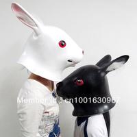 Creepy Cute Rabbit Mask Head Halloween Mask, Cosplay Bunny Mask