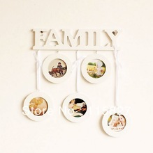 FREE SHIPPING!Family show wooden photo frame wooden pictur framework picture wall 5photo space Hot selling(China (Mainland))