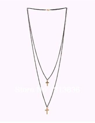 Min Amount USD15 Mixed Styles Christian Gift Cross Necklace For Woman Handamade Beaded Fashion Jewelry(China (Mainland))