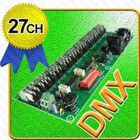 DMX512 27Channel DMX Driver / decoder 27 channel / 9RGB XLR 3P DMX 512 15A LED RGB Light controller