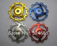 4 pcs/lot Mountain Road Bike 11T CNC Rear Derailleur Jockey Wheel Pulley free shipping