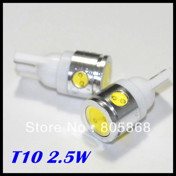 2.5W High Power White 4 SMD LED Car T10 W5W 194 927 161 Side Wedge Light Lamp Bulb,2pcs/lot,free shipping