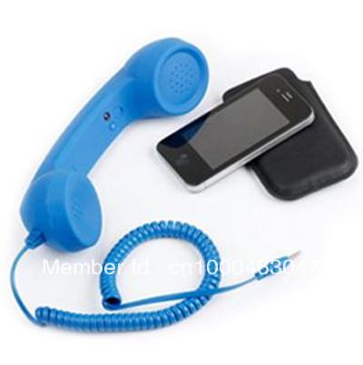 MIC 3.5mm Retro Phone Telephone Handset For iPhone / iPad / HTC / Samsung PC Portable Classic Headphone(China (Mainland))