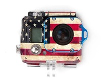 GoPro Accessories American Flag Case Sticker Skin Sticker for GoPro Hero 3 HD Camera.