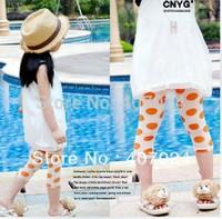 Promotion Sale Summer Mesh & Thin beach  leggings girls kids baby half pants 5pcs/lot  570079J