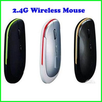 3 Colors 1200 DPI Ultra Thin 2.4G USB 2.0 Wireless Mouse Slim Mice 2.4G Receiver for Laptop PC Desktop DPI 3 modes adjustable