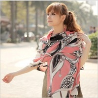 (MIX order 10$) 2012 new autumn and winter in Europe and America the wealthy leopard chain chiffon long scarf scarves MT-0901